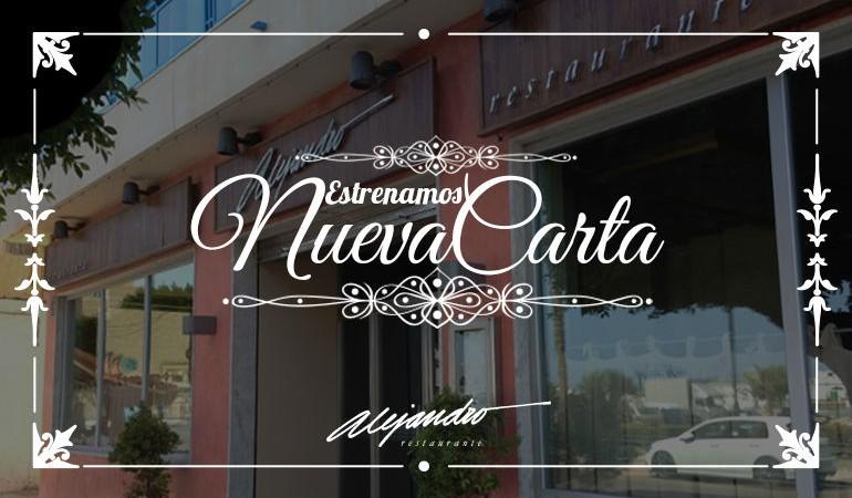Carta Restaurante Alejandro 2016