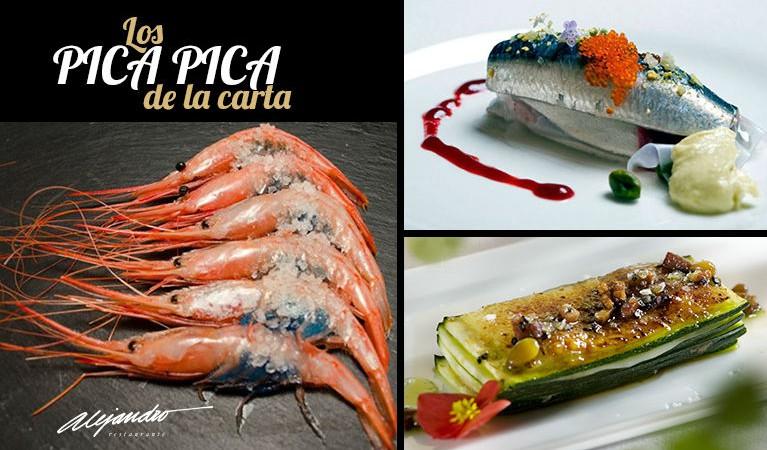 Carta Restaurante Alejandro Almería