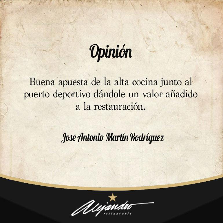Opinión Restaurante Alejandro