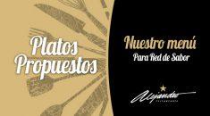 Menú Red de Sabor Restaurante Alejandro