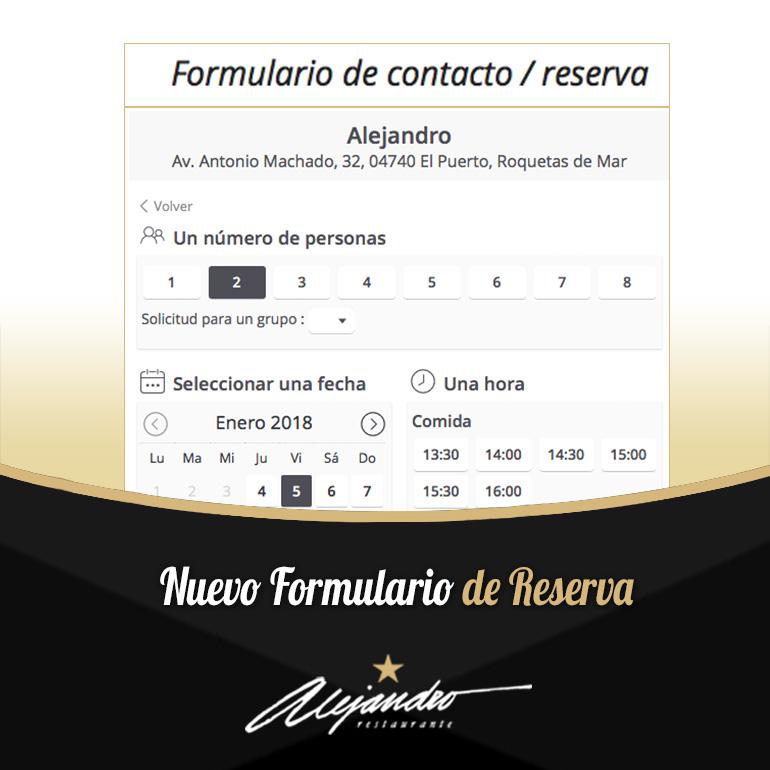 Reservas Restaurante Alejandro Roquetas