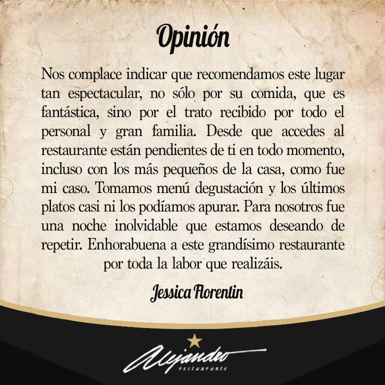 Restaurante Alejandro opiniones