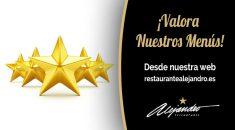Valoración Menús Restaurante Alejandro